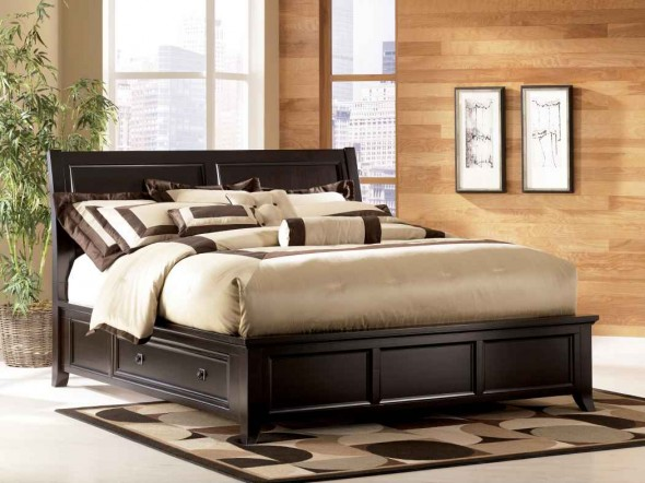King Platform Bed Frame with Storage 590 x 442